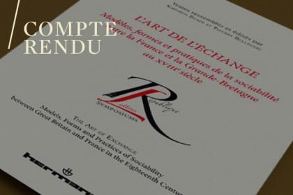 Thierry Belleguic et Kathryn Ready (dir.), L'art de l'échange : Modèles, formes et pratiques de la sociabilité entre la France et la Grande-Bretagne au XVIIIe siècle, Paris, Editions Hermann, 2015.