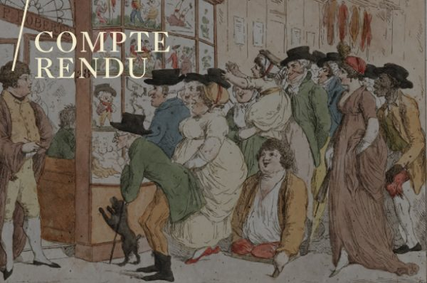 Ersy Contogouris, Les caricatures de vitrines de marchands d'estampes autour de 1800.